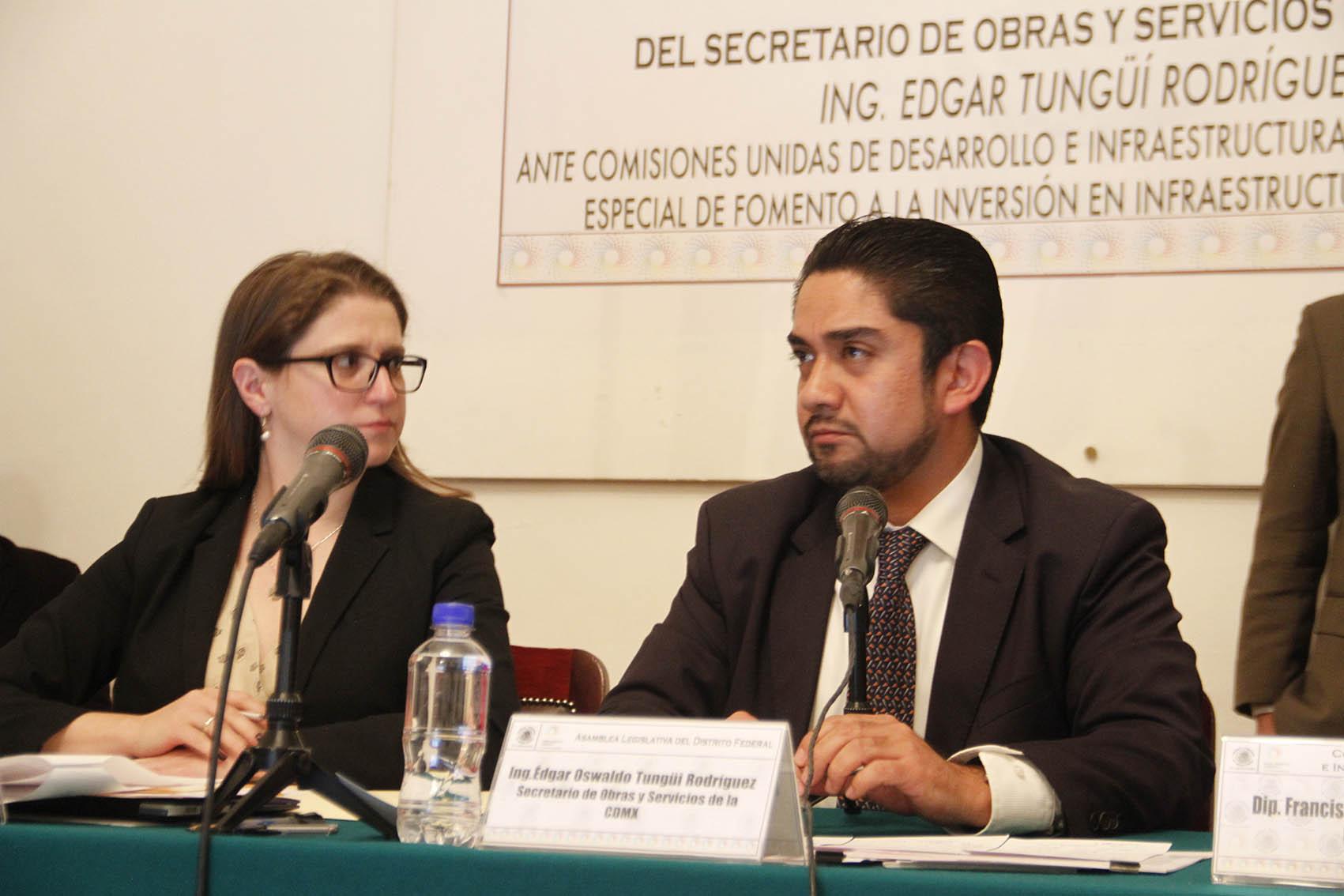 COMPARECENCIA SECRETARIO DE OBRAS Y SERVICIOS EN LA ALDF 01.JPG