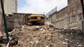 Finaliza Sobse otra demolición en la Zona Rosa; mitigado riesgo en Hamburgo 112