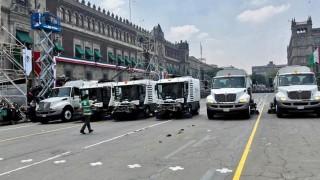Trabajadores de limpieza atienden vialidades tras festividades patrias