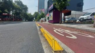 Construye Gobierno Capitalino Ciclovía en Avenida Insurgentes